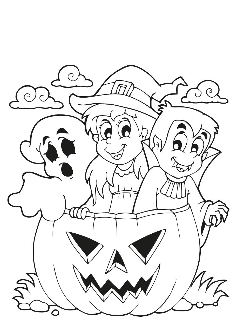 kleurplaat-halloween